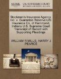 Stockmen's Insurance Agency, Inc. v. Guarantee Reserve Life Insurance Co. of Hammond, Indian...