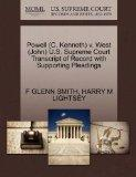 Powell (C. Kenneth) v. West (John) U.S. Supreme Court Transcript of Record with Supporting P...