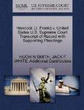 Hancock (J. Frank) v. United States U.S. Supreme Court Transcript of Record with Supporting ...