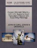 Cooper (Wendell Gilbert) v. U.S. U.S. Supreme Court Transcript of Record with Supporting Ple...