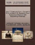 John T Clark and Son v. Cunard S S Co Limited U.S. Supreme Court Transcript of Record with S...