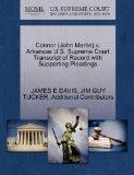 Connor (John Martin) v. Arkansas U.S. Supreme Court Transcript of Record with Supporting Ple...
