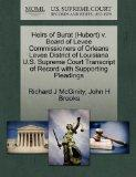 Heirs of Burat (Hubert) v. Board of Levee Commissioners of Orleans Levee District of Louisia...