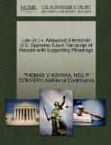 Lee (H.) v. Arrowood (Herschel) U.S. Supreme Court Transcript of Record with Supporting Plea...