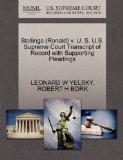 Stollings (Ronald) v. U. S. U.S. Supreme Court Transcript of Record with Supporting Pleadings