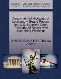 Department of Highways of Louisiana v. Beaird-Poulan, Inc. U.S. Supreme Court Transcript of ...