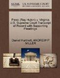 Pless (Ray Hulen) v. Virginia U.S. Supreme Court Transcript of Record with Supporting Pleadings