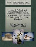 Lloyd K. Finfrock and Miscellaneous Firearms, Petitioners, v. United States. U.S. Supreme Co...