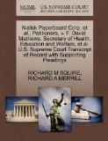 Natick Paperboard Corp. et al., Petitioners, v. F. David Mathews, Secretary of Health, Educa...