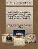 Marvin Horan, Petitioner, v. United States. U.S. Supreme Court Transcript of Record with Sup...