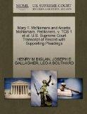 Mary F. McNamara and Anarita McNamara, Petitioners, v. TCS 1 et al. U.S. Supreme Court Trans...