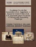Cuyahoga County Bar Association et al., Appellants, v. Supreme Court of Ohio et al. U.S. Sup...