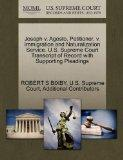 Joseph v. Agosto, Petitioner, v. Immigration and Naturalization Service. U.S. Supreme Court ...