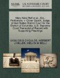 Mary Alice Relf et al., Etc., Petitioners, v. Oliver Gasch, Judge, United States District Co...