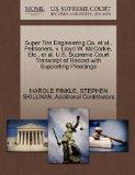 Super Tire Engineering Co. et al., Petitioners, v. Lloyd W. McCorkle, Etc., et al. U.S. Supr...