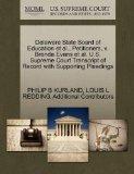 Delaware State Board of Education et al., Petitioners, v. Brenda Evans et al. U.S. Supreme C...