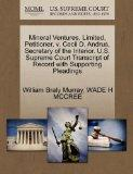 Mineral Ventures, Limited, Petitioner, v. Cecil D. Andrus, Secretary of the Interior. U.S. S...