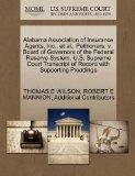Alabama Association of Insurance Agents, Inc., et al., Petitioners, v. Board of Governors of...