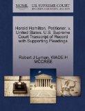 Harold Hamilton, Petitioner, v. United States. U.S. Supreme Court Transcript of Record with ...