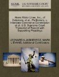 Akers Motor Lines, Inc., of Delaware, et al., Petitioners, v. Interstate Commerce Commission...