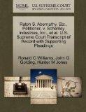 Ralph S. Abernathy, Etc., Petitioner, v. Schenley Industries, Inc., et al. U.S. Supreme Cour...