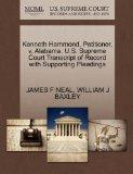 Kenneth Hammond, Petitioner, v. Alabama. U.S. Supreme Court Transcript of Record with Suppor...