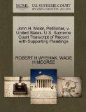 John H. Meier, Petitioner, v. United States. U.S. Supreme Court Transcript of Record with Su...