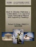 Mark M. Streeter, Petitioner, v. United States. U.S. Supreme Court Transcript of Record with...