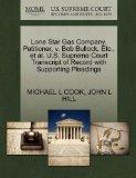 Lone Star Gas Company, Petitioner, v. Bob Bullock, Etc., et al. U.S. Supreme Court Transcrip...
