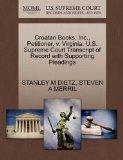 Croatan Books, Inc., Petitioner, v. Virginia. U.S. Supreme Court Transcript of Record with S...