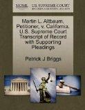 Martin L. Altbaum, Petitioner, v. California. U.S. Supreme Court Transcript of Record with S...