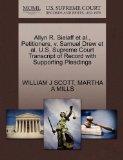 Allyn R. Sielaff et al., Petitioners, v. Samuel Drew et al. U.S. Supreme Court Transcript of...