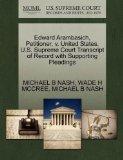Edward Arambasich, Petitioner, v. United States. U.S. Supreme Court Transcript of Record wit...