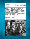 A Report of The Case in Chancery, of Thomas R. Walker, Complainant, vs. Nicholas Devereux, R...