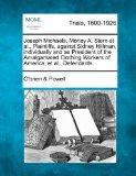 Joseph Michaels, Morley A. Stern et al., Plaintiffs, against Sidney Hillman, individually an...