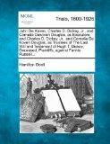 John De Koven, Charles D. Dickey, Jr., and Cornelia Dekoven Douglas, as Executors; and Charl...