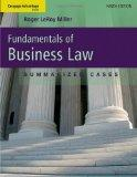 Cengage Advantage Books Fundamentals of Business Law Summarized Cases by Miller, Roger LeRoy...