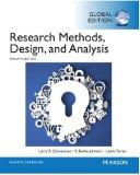 Research Methods, Design, and Analysis 12e
