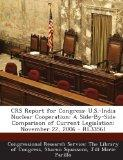 Crs Report for Congress: U.S.-India Nuclear Cooperation: A Side-By-Side Comparison of Curren...