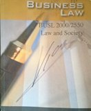 Business Law Busl 2000/2550 Law and Society