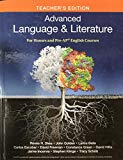 Advanced Language & Literature- Teacher's Edition