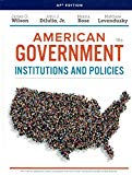 American Government: Institutions and Policies, AP Edition, 16th Edition, 9781337613507, 133...