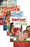 Andrew Clements 5 (Five) Paperback Book Set Includes Troublemaker, the Report Card, Frindle,...