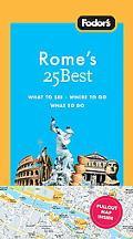 Fodor's Rome's 25 Best