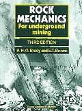 Rock Mechanics For Underground Mining