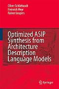 Optimized Asip Synthesis from Architecture Description Language Models