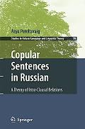Copular Sentences in Russian A Theory of Intra-Clausal Relations