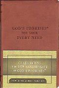 God's Promises for Your Every Need 25th Anniversary, Deluxe Leather