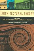 Architectural Theory An Anthology from Vitruvius to 1870