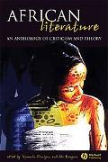 African Literature An Anthology